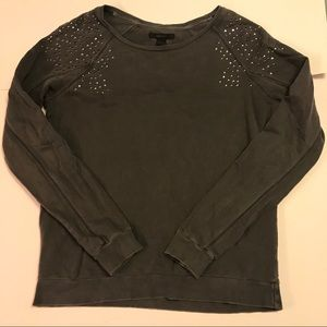 Forever 21 Gray Sweater with Shoulder Studs